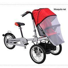 todo el conjunto de 16 cochecito cochecito 1 mosquite bolso de la cubierta neta + 1 + 1 lado lluvia ruituo ™ 3 ruedas bici plegable - EUR € 699.99
