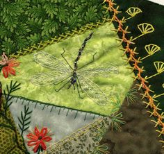 Embroidered dragonfly.