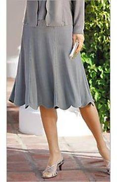 Draper and Damons plus size grey scalloped skirt 2013
