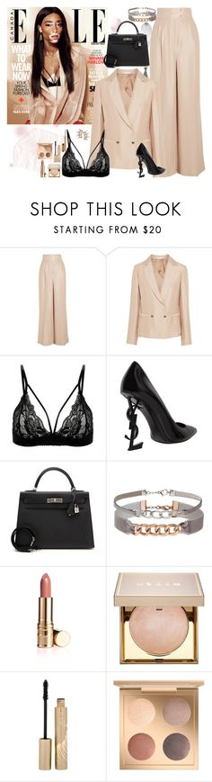 """Winnie Harlow"" by fashion-nova ❤ liked on Polyvore featuring Barbara Casasola, Yves Saint Laurent, Hermès, Miss Selfridge, Stila and Fred Leighton"