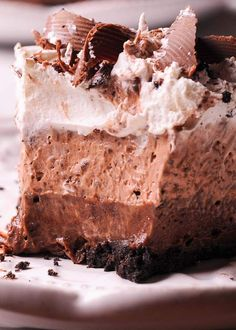 No Bake Chocolate Pudding Cream Pie No Bake Oreo Dessert, Pie Dessert, No Bake Desserts, Delicious Desserts, Dessert Recipes, Dessert Ideas, Chocolate Pudding Desserts, Chocolate Pie Recipes, Chocolate Pies