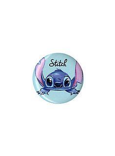 "<p>Small pinback button from Disney's <i>Lilo & Stitch</i> with an adorable Stitch character design.</p> <ul> <li>1 1/4"" diameter</li> <li>Made in USA</li> </ul>"