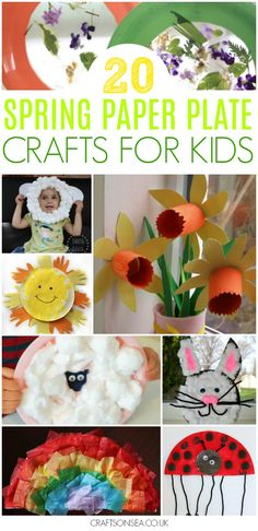 spring paper plate crafts for kids preschool