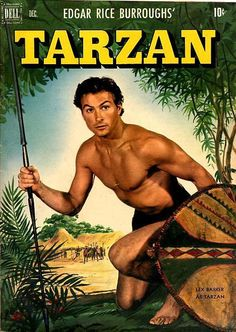 This listing is for a sweet copy of tarzan 50 by dell featuring a lex barker photo cover from Sadly it grades low as it has bends tears water damage and other defects. Book Cover Art, Comic Book Covers, Comic Books, Comic Art, Colt 45, Real Movies, Old Movies, Cartoon Network Adventure Time, Adventure Time Anime