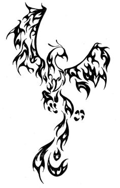 I want to put a kinda large Phoenix tattoo on my back as a survivor of a trauma that nearly took my life. Tribal Tattoos, Tribal Phoenix Tattoo, Phoenix Tattoo Design, Body Art Tattoos, New Tattoos, Cool Tattoos, Phoenix Tattoos, Elephant Tattoos, Pretty Tattoos