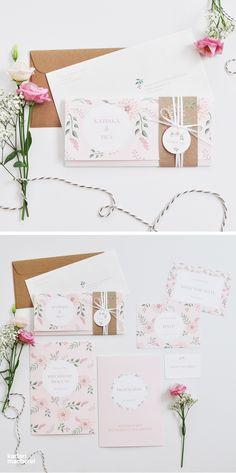 Wedding Crafts, Diy Wedding, Wedding Favors, Digital Invitations, Invitation Cards, Floral Wedding Invitations, Wedding Stationery, Wedding Graphics, Botanical Wedding