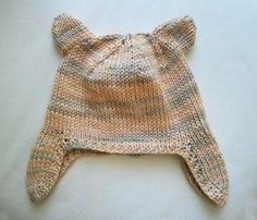 LuluKnits: Baby Ear flap Hat with Ears