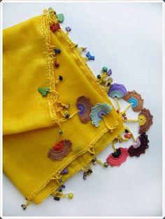 Handmade and Hobby Works: Crochet Needlework Models # crochet # crochet … - Jewelry Flowers Embroidery Suits, Hand Embroidery, Crochet Flowers, Crochet Lace, Crochet Needles, Crochet Scarves, Loom Knitting, Yarn Crafts, Crochet Projects