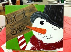 SNowman canvas I fixed one just like this.