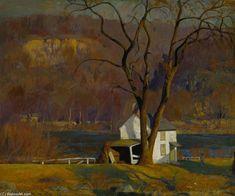 Hut by Daniel Garber (1880-1958, United States)