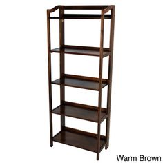 Stratford 5-shelf Folding Bookcase - Overstock™ Shopping - The Best Prices on Book & Display Cases