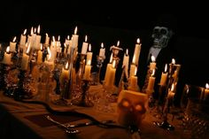 All Hallow's Eve Dinner Party. Excellent ideas! Definitely using the sheet and movie projector part!