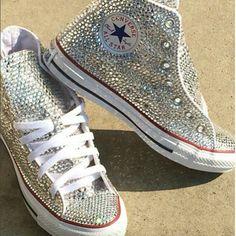 Converse, bling, handmade, vintage