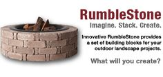 RumbleStone Outdoor Building Blocks - you can do so many things with these - just uses construction adhesive. Outdoor Landscaping, Landscaping Ideas, Outdoor Projects, Diy Projects, Paver Stones, Outdoor Buildings, Georgia Homes, Pool Ideas, Garden Plants