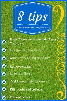 8 artificial turf lawn maintenance tips.