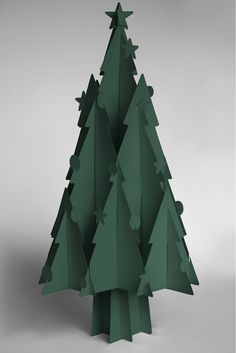 Recycled Cardboard Christmas Trees - Moderno