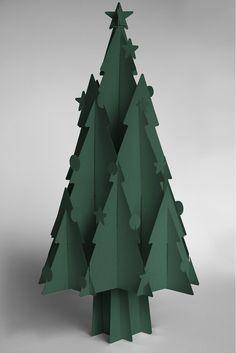 Recycled Cardboard Christmas Trees - Moderno