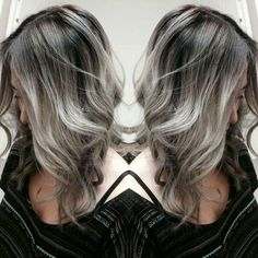Our trending black to grey balayage ombre shade blends easily in to black hair, resulting in an overall sizzling hot and natural and current ombre look. It works on gray hair. Balayage is a smart solution for gray hair because it . Silver Grey Hair, Silver Color, Silver Wigs, Gold Hair, Human Hair Wigs, Hair Looks, Wig Hairstyles, New Hair, Hair Inspiration