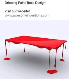 Dripping paint table design... is it bad that when I looked at this, I saw dripping blood, not paint?<--I saw the same thing. Agatha Christie novels and Sherlock and being in fandoms altogether have warped my mind :P