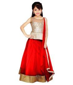 Najara Fashion Red Net Lehengas For Girls @ Rs 699