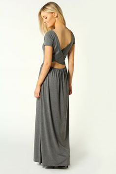 Faye Cross Over Back Detail Maxi Dress