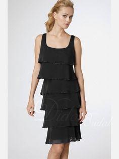 Stunning Sheath Chiffon Little Black Dress
