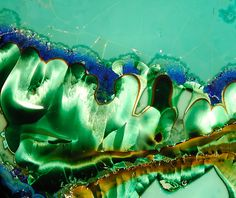 Azurite, Crisocola e Malaquite | Azurite, Chrysocolla, & Malachite  closeup  by Wood Stoneworks and Photo Factory