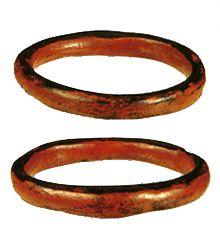 Bracelet of the lacquering. Jomon-era. BC.1,200 - BC.800.   Hachinohe Aomori Japan.