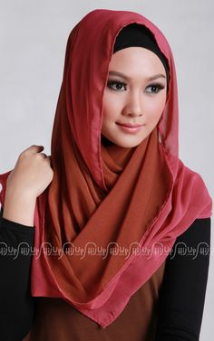 It has never been too late for 'Two Tone Shawl' from Jenahara. $13.70 click > www.hijup.com