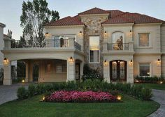 60 Most Popular Modern Dream House Exterior Design Ideas - Traumhaus Luxury Homes Exterior, Dream House Exterior, Modern Exterior, Home Exterior Design, House Exteriors, Exterior Paint, Dream Home Design, Modern House Design, Style At Home