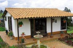 Pergola Kits Home Depot Village House Design, Village Houses, Spanish Style Homes, Spanish House, Small Country Homes, Country Houses, Adobe House, Hacienda Style, Small House Design