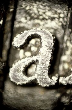 letter 'a' metal typeblock | photo: chris ferebee