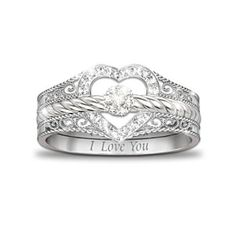 Purity ring for my girls?   Three separate rings, all say I love you.   (Parents, God  Future spouse?)