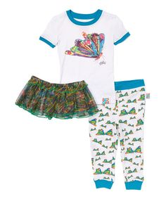 Look at this Eric Carle Butterfly Tutu Pajama Set - Infant, Toddler & Girls on #zulily today!