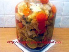Κουνουπίδι τουρσί με καρότα σέλινο και πιπεριές - Τα φαγητά της γιαγιάς