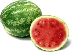 The Seedless watermelon has the same trademark two-toned variegated green skin and juicy, aromatic sweet flesh as the common watermelon. Though devoid of the ubiquitous black seeds of common watermelons, the Seedless watermelon may contain a trace amount of white, edible seeds. Depending on variety and region of cultivation, average weights can range from six to twenty-five pounds. Look for watermelons with nice even color except for a yellow patch where it laid on the ground.