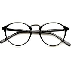 Vintage Black Rx Optional Round Glasses 8768ZU (€23) ❤ liked on Polyvore featuring accessories, eyewear, eyeglasses, glasses, sunglasses, fillers, round lens glasses, round glasses, round eye glasses and vintage round eyeglasses
