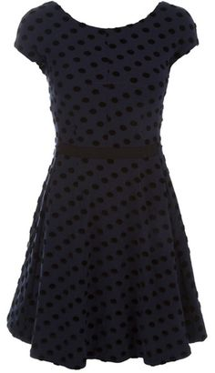 #NMFallTrends  blue and black Polka Dot Dress by marc jacobs - want this