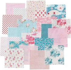 Tilda Country Escape Charmpack Fabric Mix