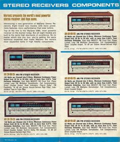 Marantz brochure, 1977. Our stereo looked like this. :)