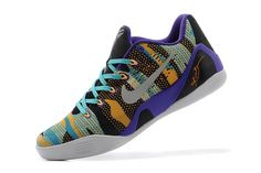 """Nike """"Unleashed"""" (Pop Art Camo) Female Kobe Bryant 9 Low EM Sneakers - Court Purple/Reflective Silver/Atomic Mango and Turquoise"""