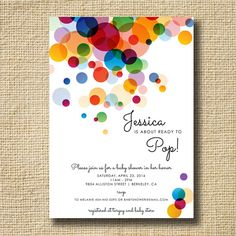 POP Baby Shower Invitation Ready to Pop Baby by creativelime