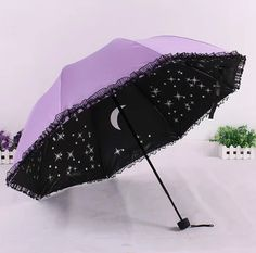 Harajuku fashion galaxy lace sun umbrella from Asian Cute {Kawaii Clothing} Harajuku Fashion, Kawaii Fashion, Lolita Fashion, Harajuku Girls, Grunge Style, Soft Grunge, Pastel Goth Style, Pastel Goth Clothes, Pastel Goth Fashion