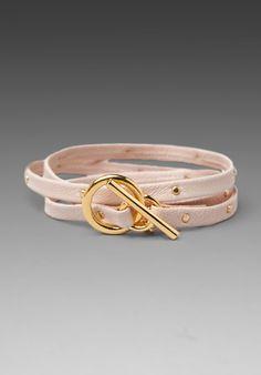 rose gold leather strap bracelet