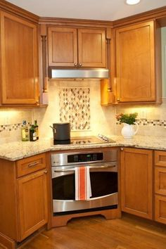 1000 images about corner oven on pinterest ovens oven for Corner cooktop designs kitchen