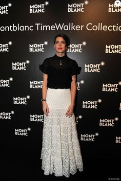 Charlotte Casiraghi attends the Montblanc Gala Dinner At Brasserie Des Halles as part of the SIHH January 16, 2017 in Geneva, Switzerland.
