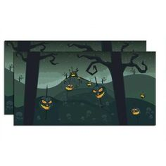 -Department 56 Halloween Village Halloween Backdrop, Set of 2--2012