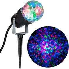 Gemmy Lightshow Multicolor Kaleidoscope for Holiday Decor: Enhance your outdoor holiday decor with this turning, swirling LED spotlight Christmas Light Projector, Led Christmas Lights, Outdoor Christmas Decorations, Holiday Lights, Holiday Decor, Holiday Crafts, Home Depot, Multi Colored Christmas Lights, Led Projector