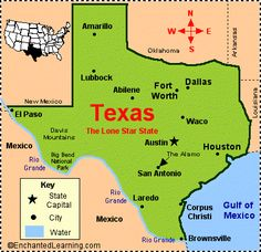 Texas was the 28th state in the USA; it was admitted on December 29, 1845.   State Abbreviation - TX  State Capital - Austin  Largest City - Houston  Area - 268,601 square miles [Texas is the second biggest state in the USA - only Alaska is bigger]  Population - 20,851,820 (as of 2000) [Texas is the second most populous state in the USA, after California; New York is the third most populous]  Name for Residents - Texans  Major Industries - petroleum and natural gas, farming (cotton, livestock...