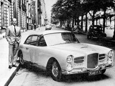 Sterling Moss with his Facel Vega